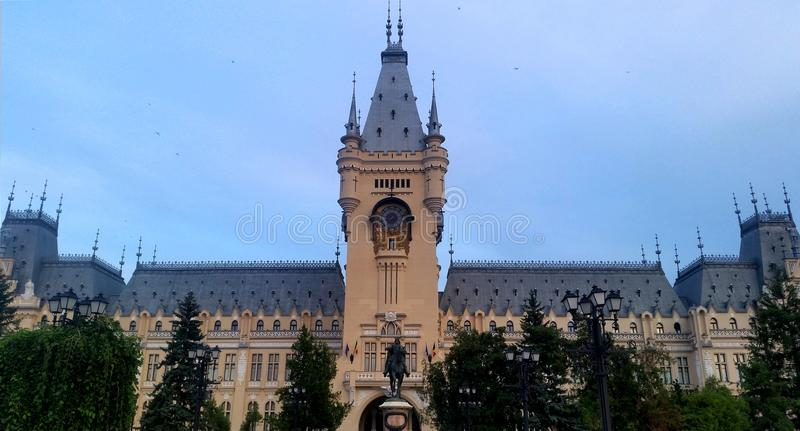 Palace of Culture Iasi, Romania. The Palace of Culture in Iasi is the main attraction point of the Moldavian capital royalty free stock photo
