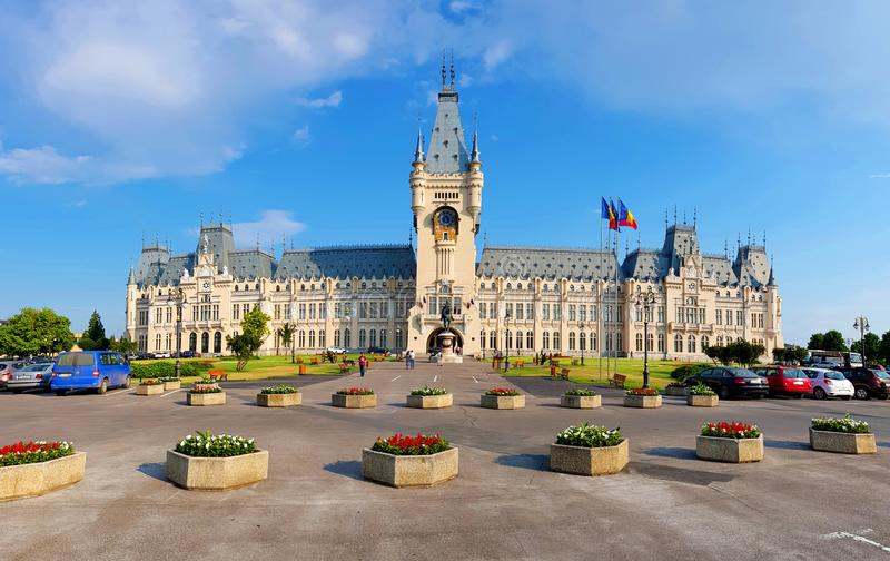 The Palace of Culture Iasi Romania Palatul Culturii din Iasi. The Palace of Culture in Iasi Romania. In the past the building served as Administrative Palace and royalty free stock images