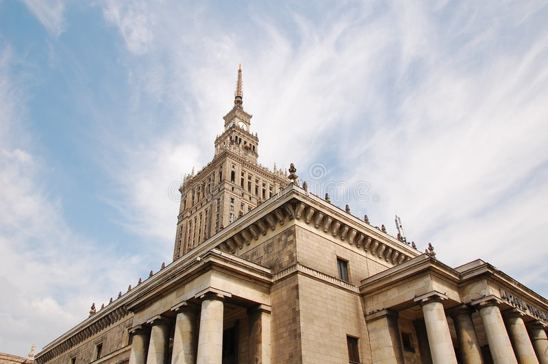 Download Palace Of Culture And Science Stock Image - Image: 8227577