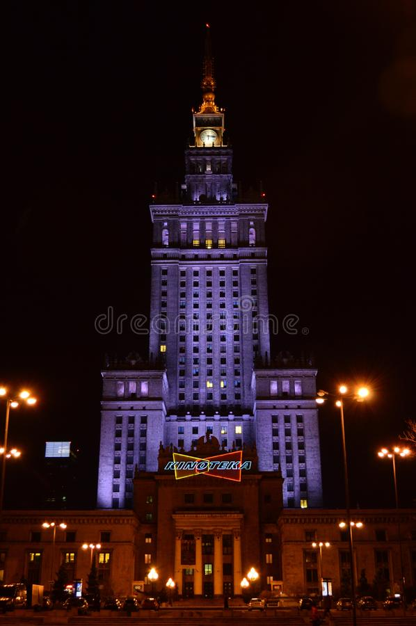 Palace of culture and science warsaw royalty free stock image