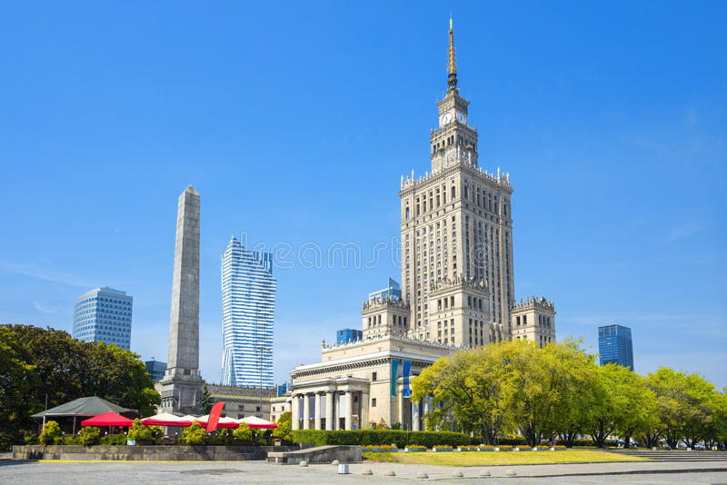 Palace of Culture and Science, Warsaw, Poland stock photography