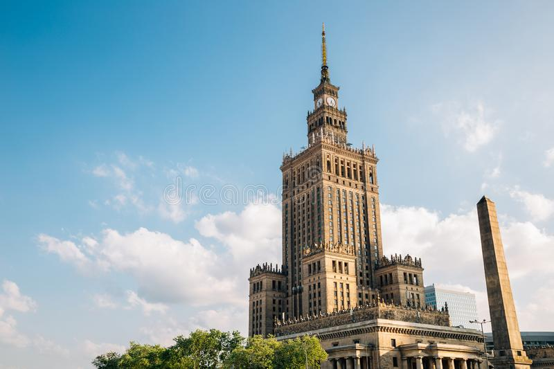 Palace of Culture and Science in Warsaw, Poland. Historic architecture royalty free stock images