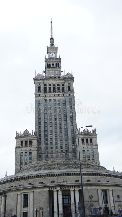 Palace of Culture Warsaw royalty free stock photo