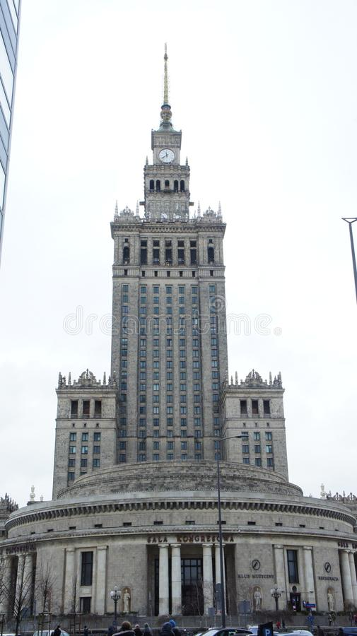 Palace of Culture in Warsaw Poland royalty free stock photos
