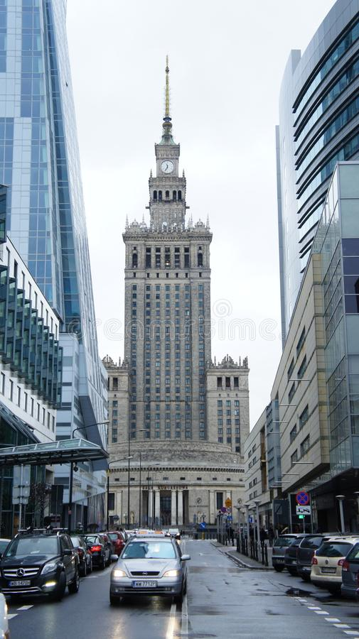 Palace of Culture in Warsaw Poland royalty free stock photography
