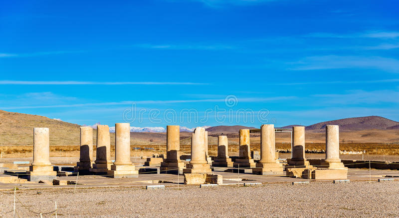 Palace of Cyrus the Great in Pasargadae, Iran. Palace of Cyrus the Great in Pasargadae - Iran stock photography