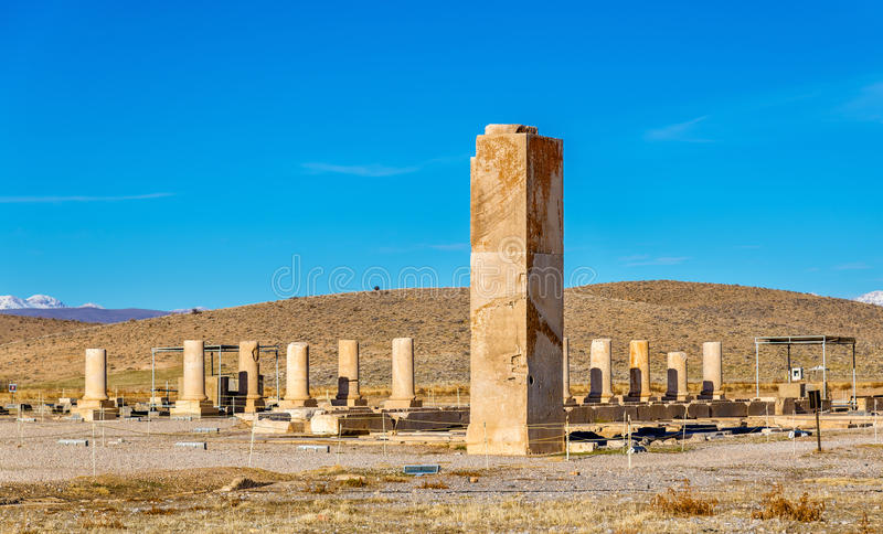Palace of Cyrus the Great in Pasargadae, Iran. Palace of Cyrus the Great in Pasargadae - Iran royalty free stock photography