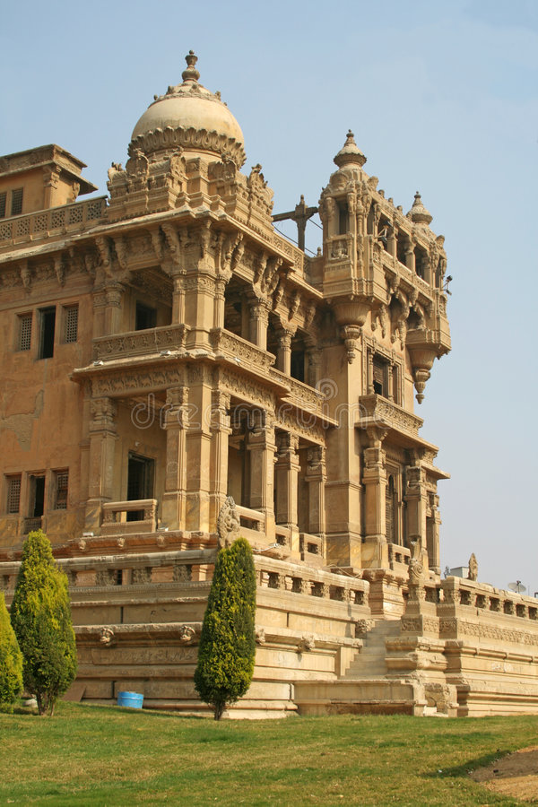 Palace de barón - patio trasero foto de archivo libre de regalías
