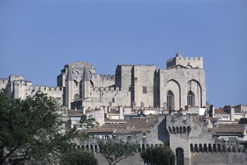 Palace de los papas, Aviñón, Francia fotografía de archivo libre de regalías