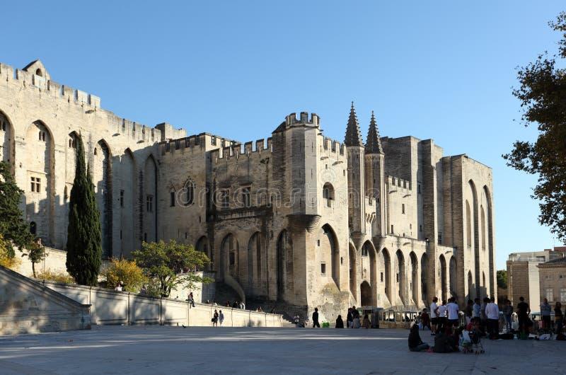 Palace de pape à Avignon, France photo stock