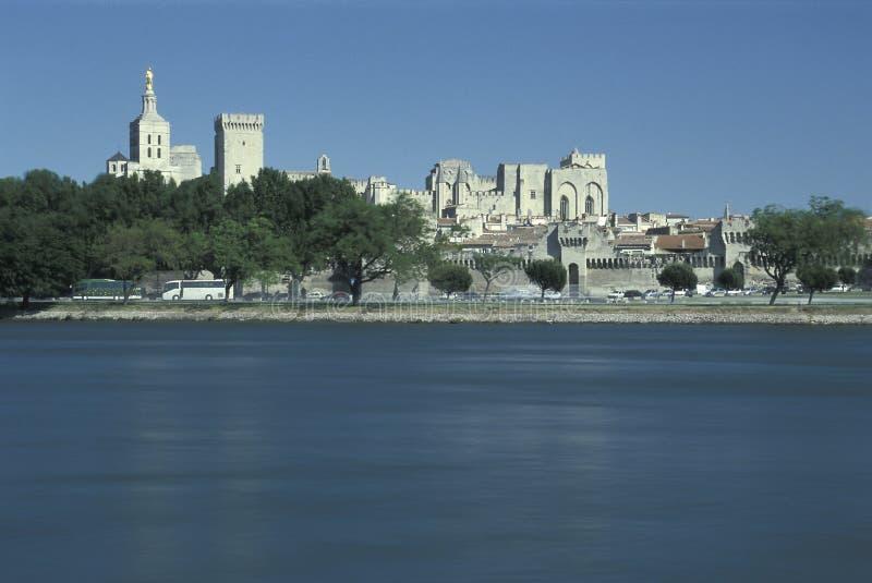 Palace de rivière le Rhône et de papes, Avignon, France photo libre de droits