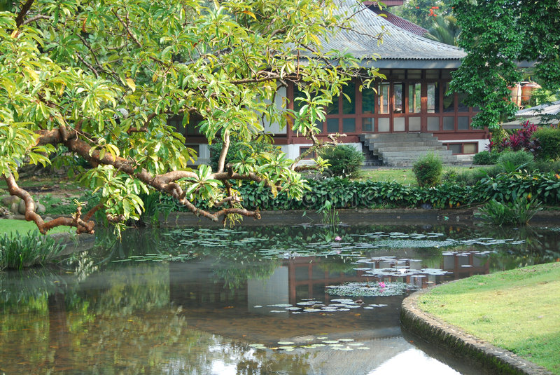 Palace del Presidente, Bogor, Indonesia immagine stock
