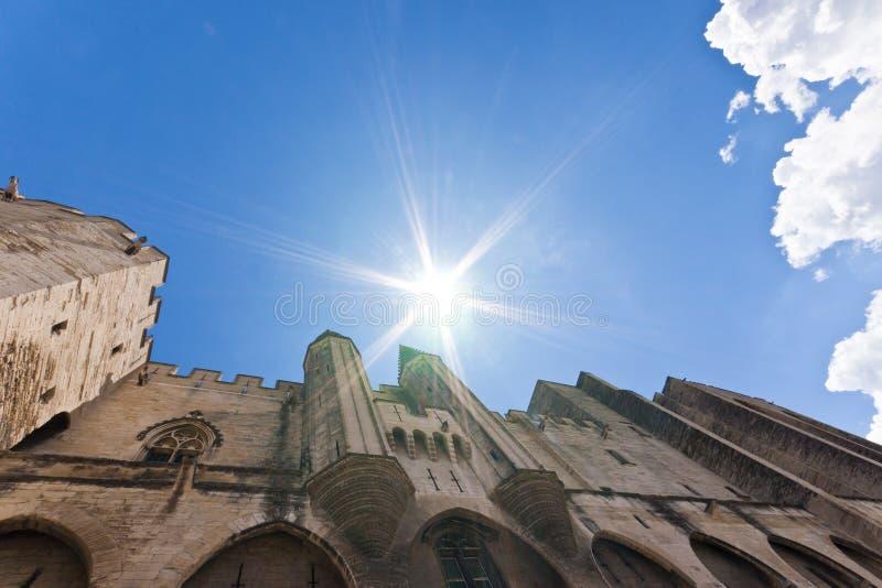 Palace der Päpste stockfoto
