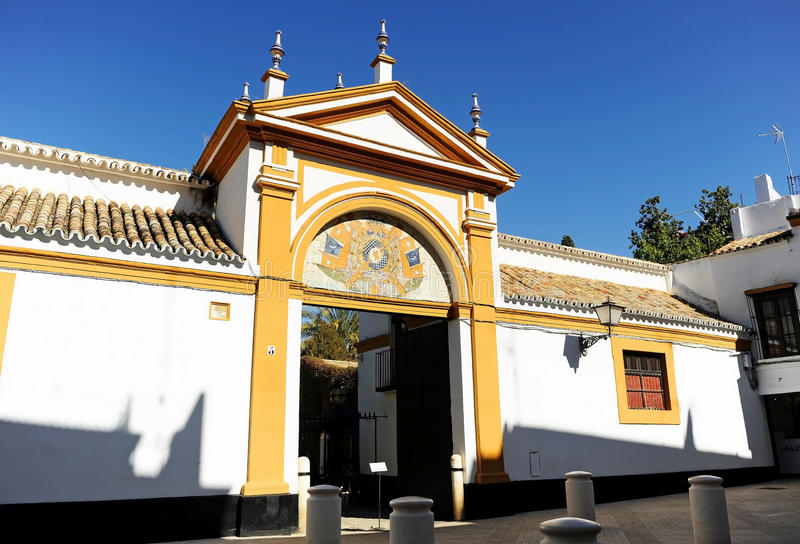 Palace of the Duenas in Seville, Spain stock images
