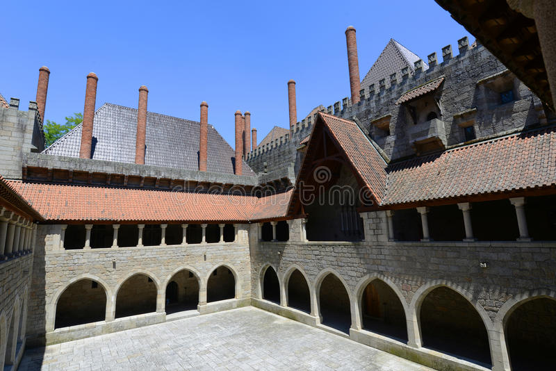 Palace of the Dukes of Braganza, Guimarães, Portugal royalty free stock photo