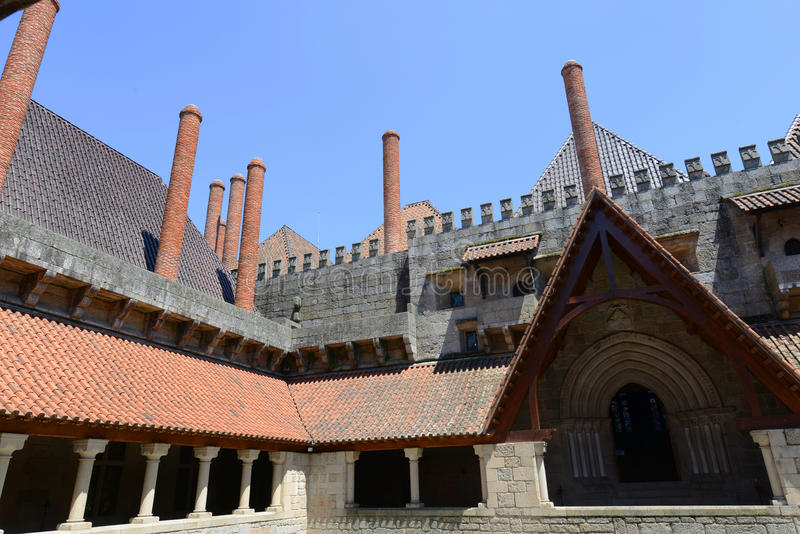 Palace of the Dukes of Braganza, Guimarães, Portugal stock image