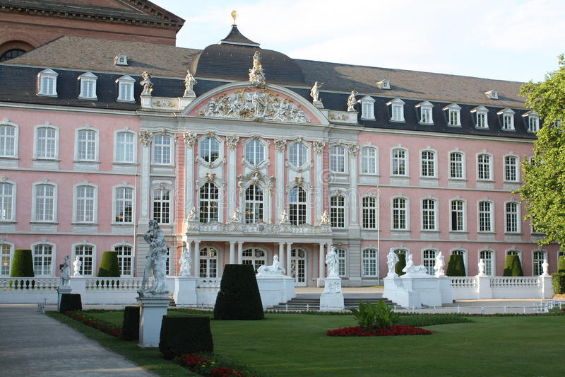 Palace of the Elector. In Trier in Germany royalty free stock images