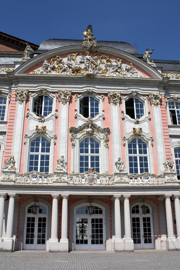 Palace of the Elector. In Trier in Germany stock image