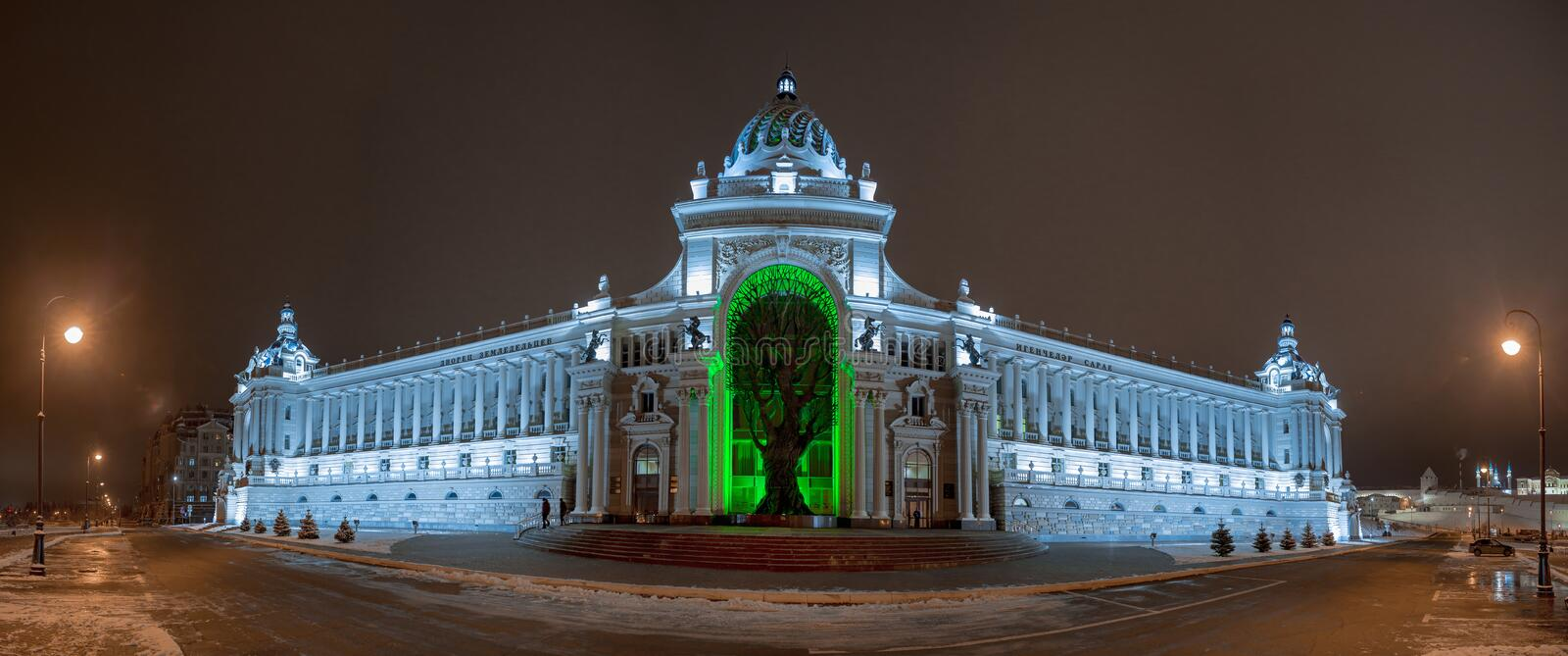 Palace of Farmers in Kazan, Republic Tatarstan. Winter view attractions royalty free stock images
