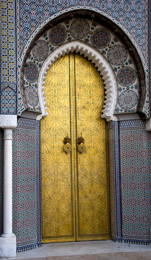 Palace in Fes, Morocco royalty free stock photography