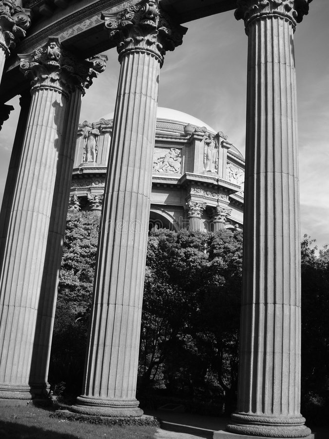 Download Palace Of Fine Arts Columns Royalty Free Stock Photography - Image: 84997