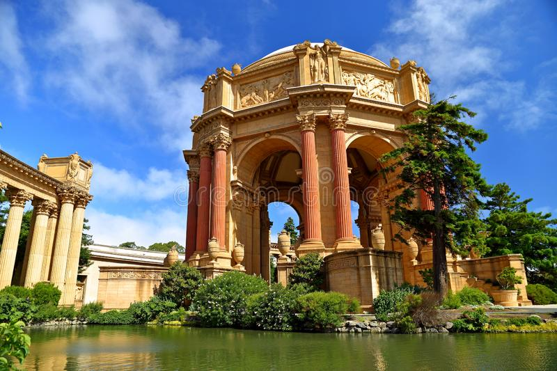 Palace of Fine Arts near Golden Gate Bridge in San Francisco. royalty free stock images
