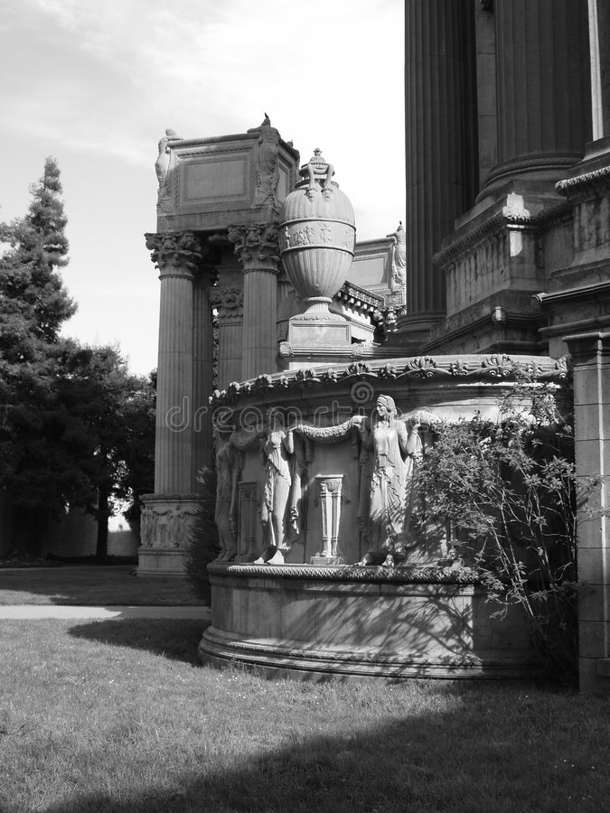 Palace of Fine Arts Relief stock photo