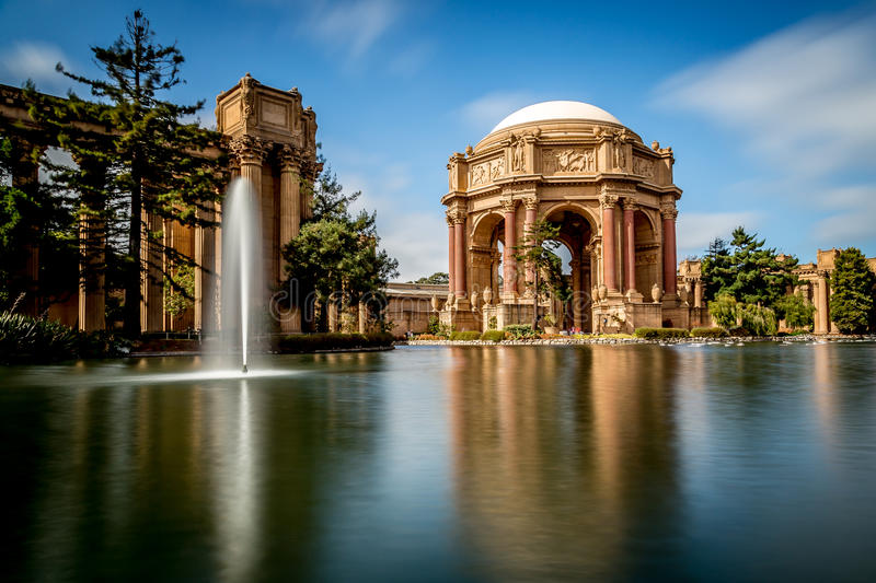 Palace of Fine Arts, San Francisco. A Beautiful ornate theatre in the Pacific Heights area of San francisco royalty free stock images