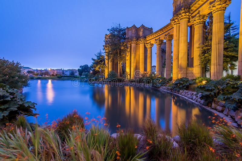 The Palace of Fine Arts royalty free stock photos