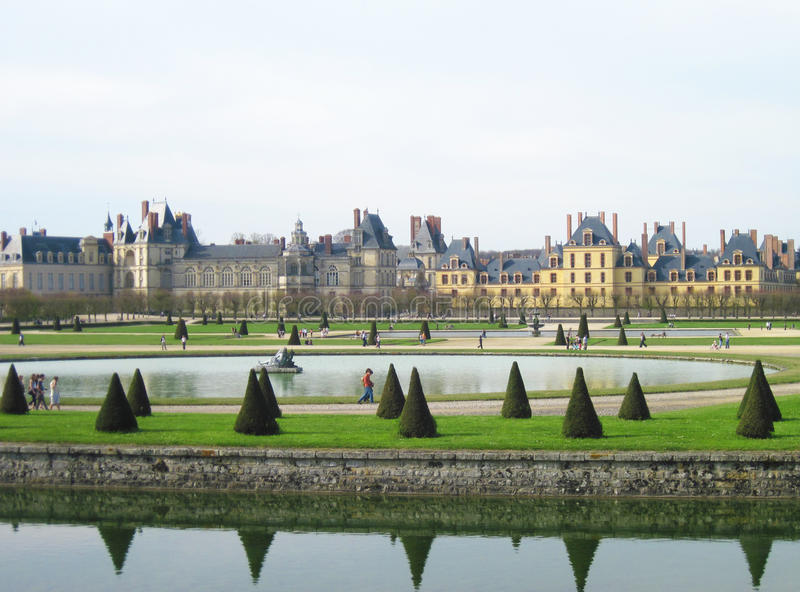 Palace of Fontainebleau, France stock photo