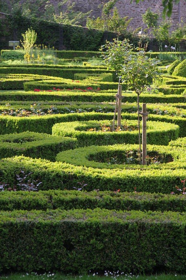 Palace garden of Idstein palace. Hesse, Germany stock image