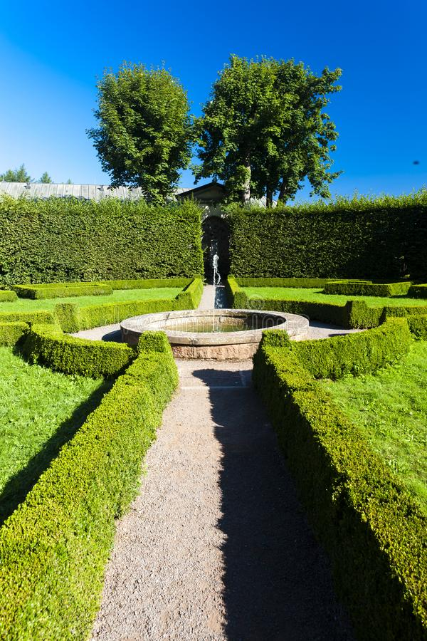 Palace garden in Nachod, Czech Republic royalty free stock images