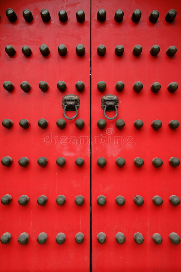 Download Palace Gate stock photo. Image of beijing, close, handle - 7649922