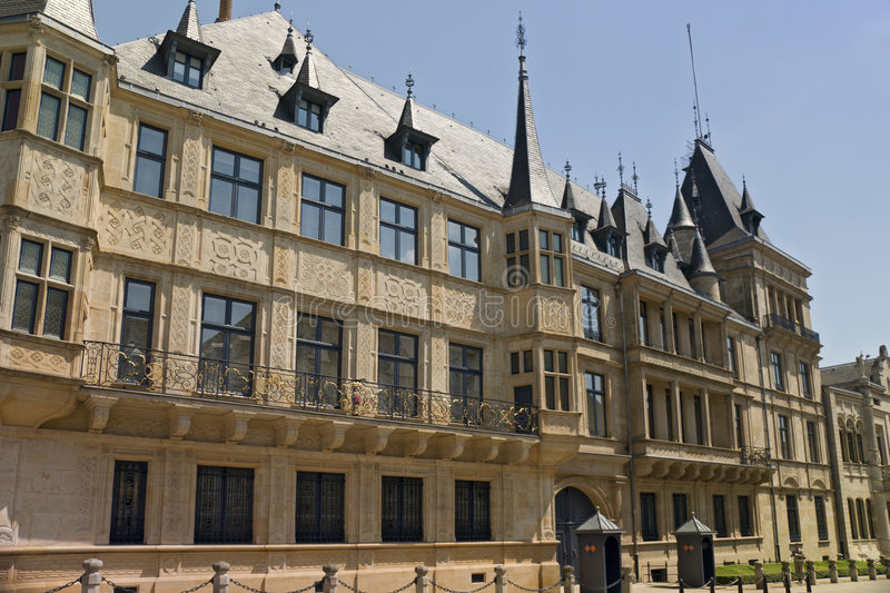 Palace Of The Grand Duke Of Luxembourg Royalty Free Stock Images