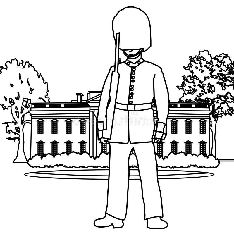 Palace Guard Coloring Page