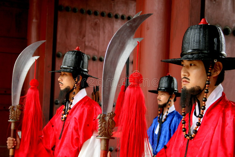 Palace guards royalty free stock photos