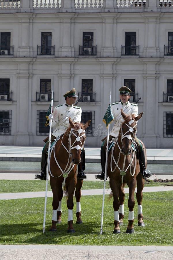 Palace Guards at La Moneda, Santiago de Chile stock photos