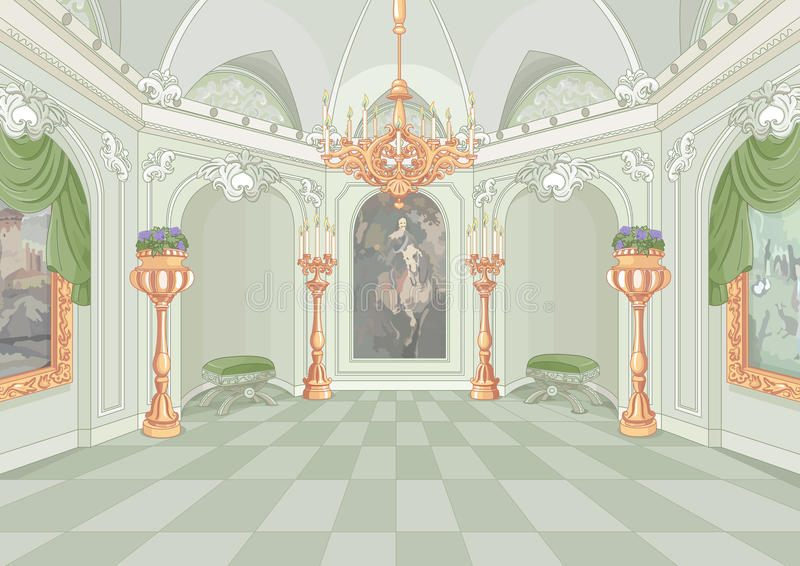 Palace Hall. Illustration of a Palace hall royalty free illustration