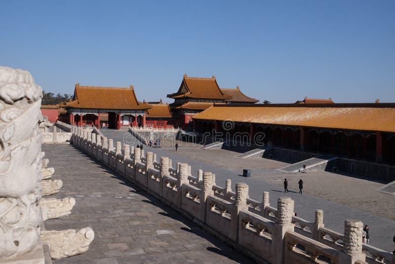 Palace of Heavenly Purity Qianqinggong in Forbidden city, Beijing stock photo