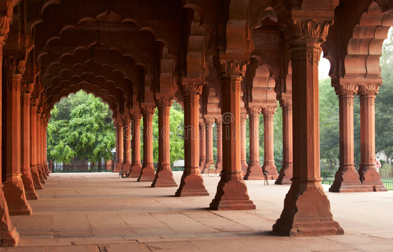 Palace inside of the Red Fort royalty free stock images