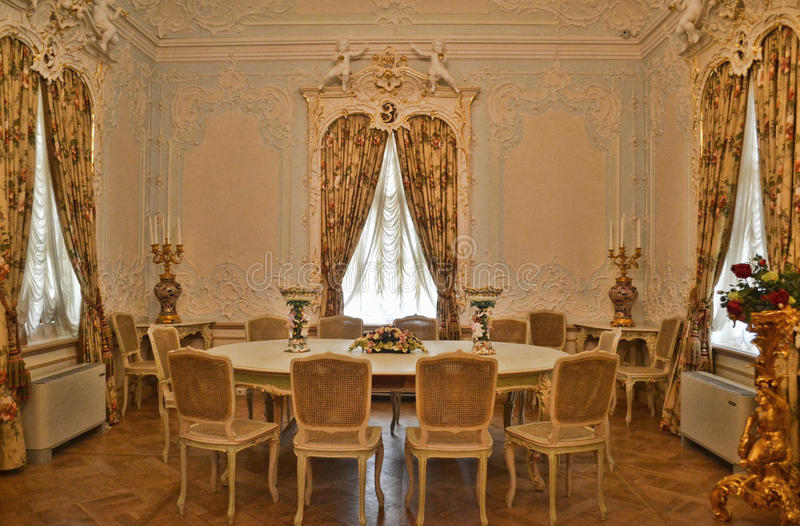 Palace interior: Dining room royalty free stock photography