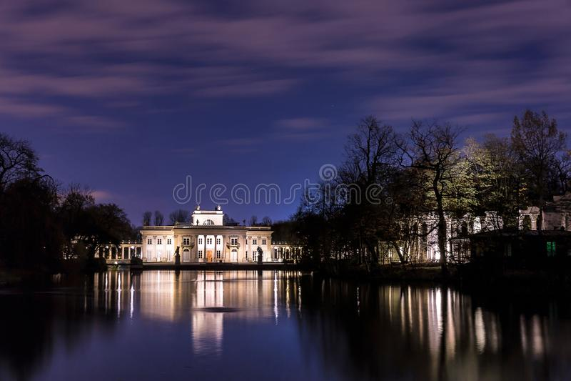 Palace on the Isle. The Royal Lazienki - Warsaw, Poland royalty free stock photos