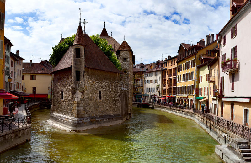 Palace of the Isle (Palais d'Isle), Annecy, France stock image