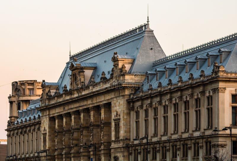 Palace of Justice building Palatul Justitiei från Bukarest, Rumänien royaltyfria bilder