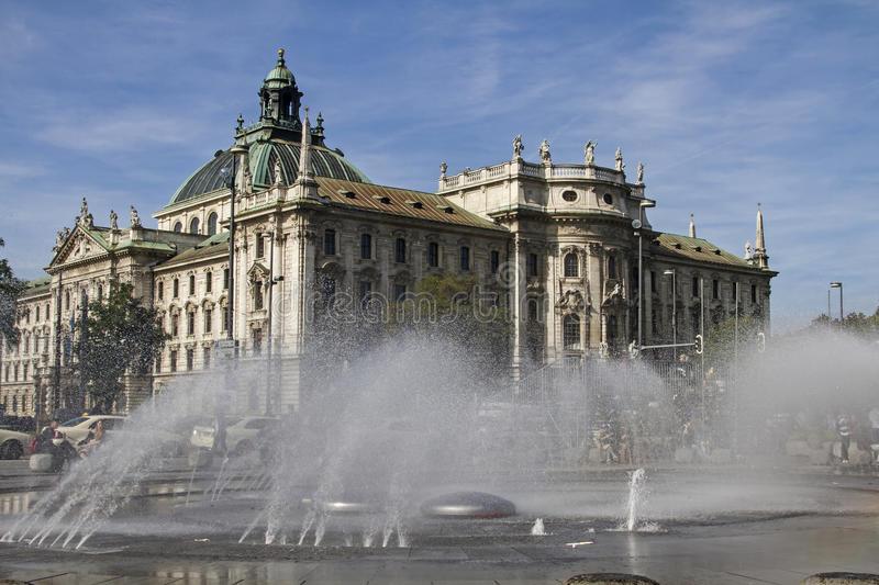 Palace of Justice in Munich. A judicial and administrative building in the Bavarian capital royalty free stock images