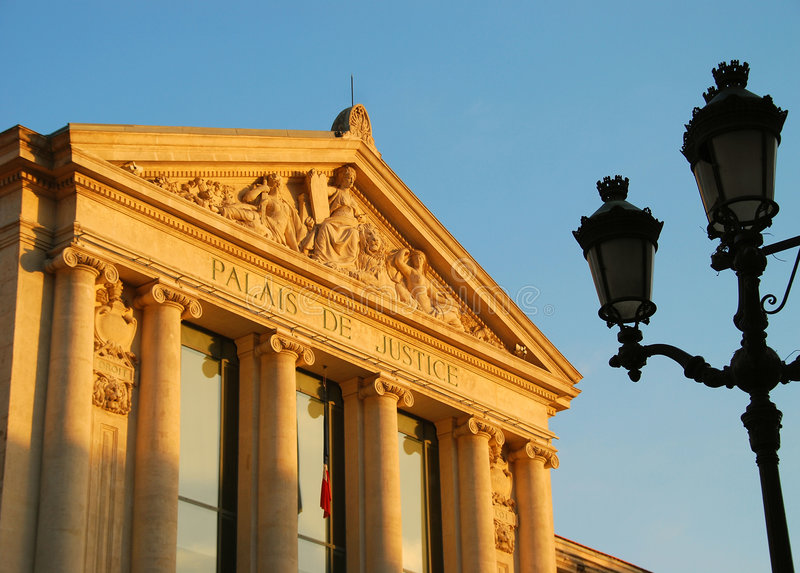 Download Palace of Justice in Nice stock image. Image of relief - 4665243