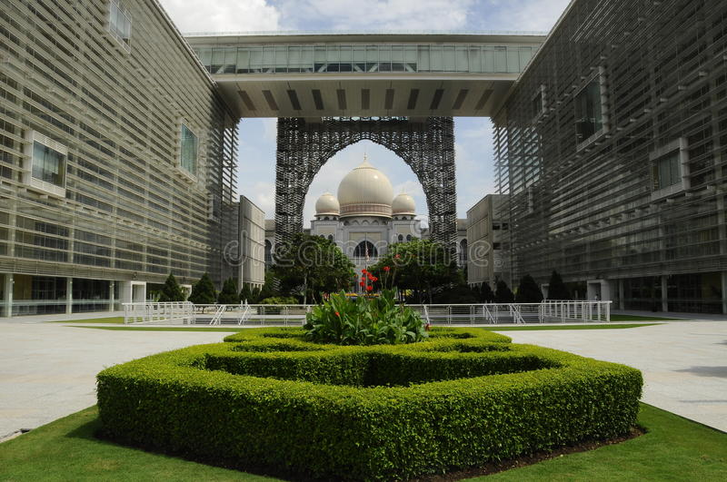 Palace of Justice in Putrajaya, Malaysia. PUTRAJAYA, MALAYSIA – DECEMBER, 2013: Palace of Justice or The Istana Kehakiman is majestic looking building stock photos