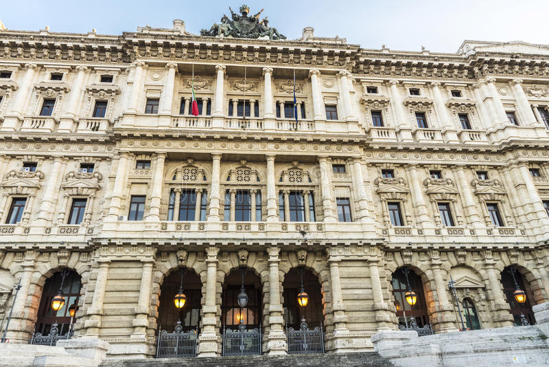 Palace of Justice of Rome, Italy stock photography