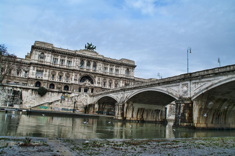 The Palace of Justice in Rome, Italy stock photography