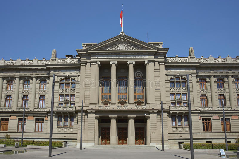 Palace of Justice, Santiago, Chile stock image